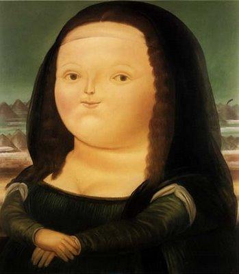 Fatso Mona Lisa  by Fernando Botero