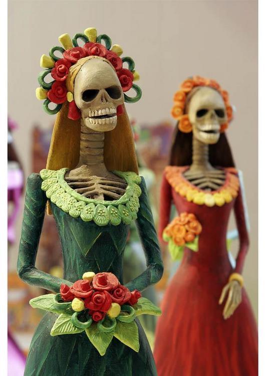 """""""La Catrina"""" é o esqueleto de uma dama da alta sociedade, umas das mais populares figuras das celebrações do Dia dos Mortos, personagem do folclore mexicano, popularizado por Jose Guadalupe Posada. Imagem: Wikipedia."""