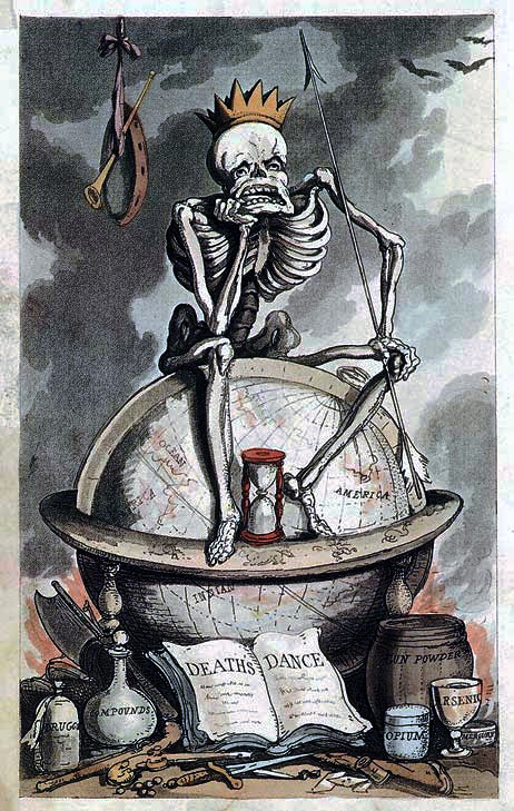 "Imagem: Rowlandson, em ""The English Dance of Death""."