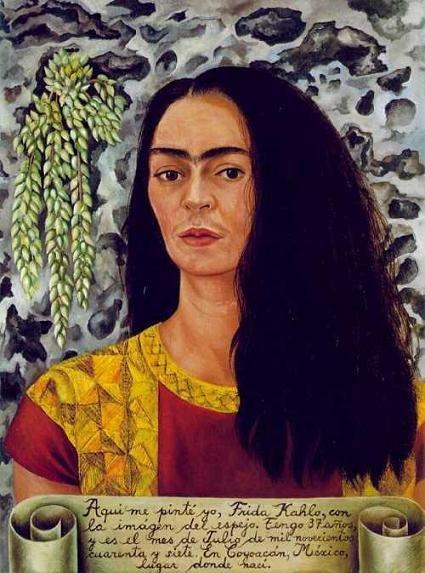 Frida Kahlo – Auto retrato com cabelo liso