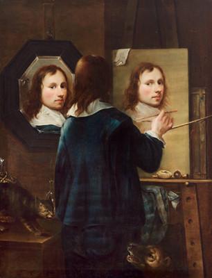 Johannes Gumpp (1646), autorretrato ao espelho.